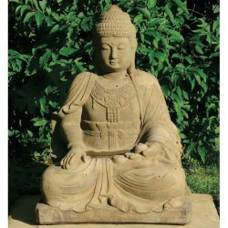 deko figur f r den garten large buddha. Black Bedroom Furniture Sets. Home Design Ideas
