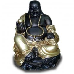 deko figur buddha mit kugel und kette. Black Bedroom Furniture Sets. Home Design Ideas