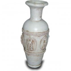 dekorations figur r mische vase mit mustern. Black Bedroom Furniture Sets. Home Design Ideas