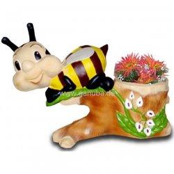 Tier dekofigur biene mit ast blumentopf for Blumentopf tiere