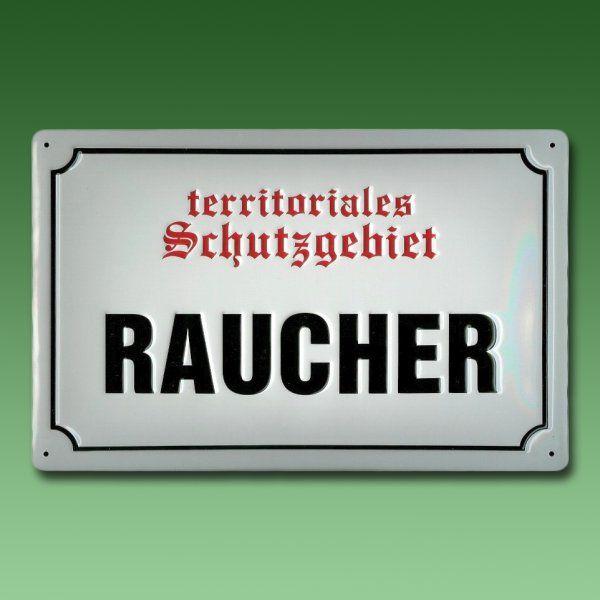 Spaß U0026 Sprüche Metallschild   RAUCHER