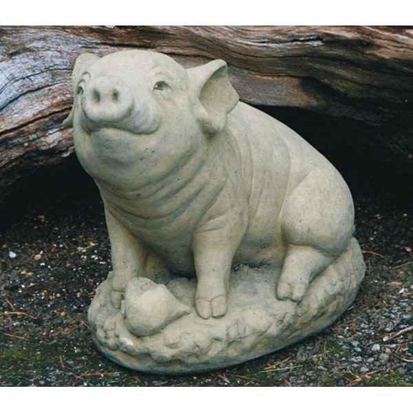 deko figur f r den garten schwein sitzend. Black Bedroom Furniture Sets. Home Design Ideas