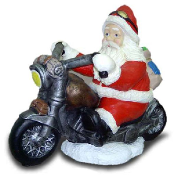 deko figur weihnachtsmann auf motorrad. Black Bedroom Furniture Sets. Home Design Ideas