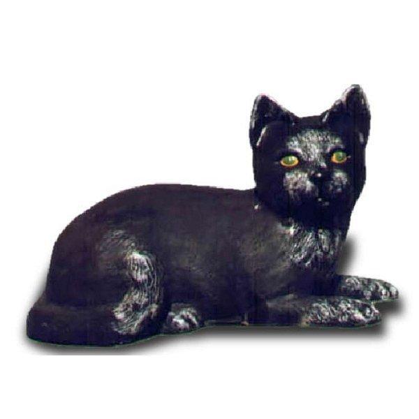 Deko figur schwarze liegende katze for Deko katzen gartendekorationen