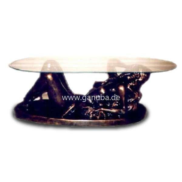 Deko Figur Liegende Frau als Tisch