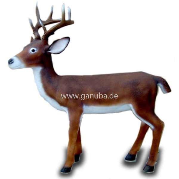 Tier Dekofigur Freundlich Grinsender Hirsch