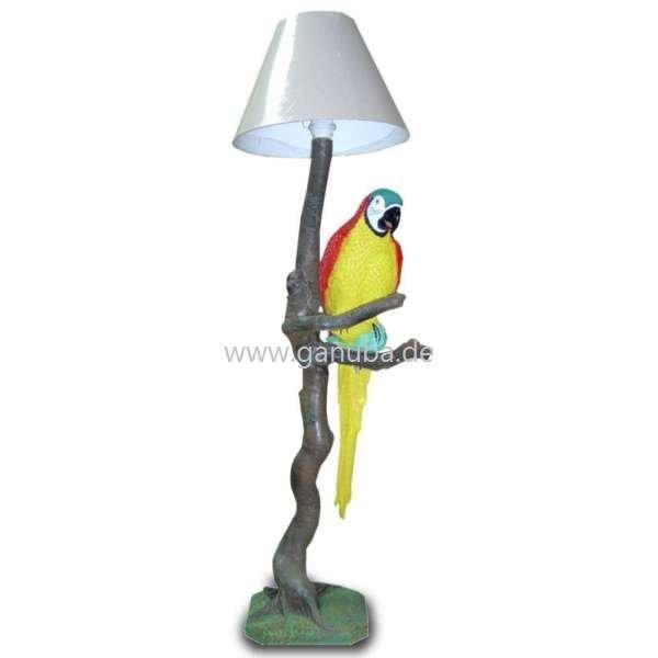 deko lampe papagei sitzt auf ast. Black Bedroom Furniture Sets. Home Design Ideas
