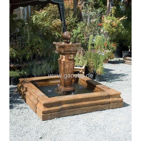 Gartenbrunnen   Mulazzo Mit Eckigem Brunnen Becken   Garten Brunnen