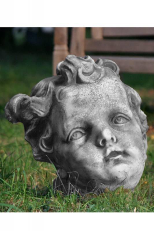 Gartenfigur engelkopf for Gartenfiguren aus steinguss